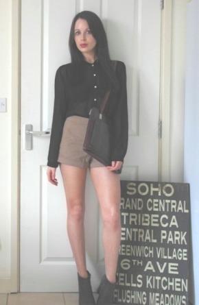 Today I'm Wearing: A Sheer Shirt & SafariShorts